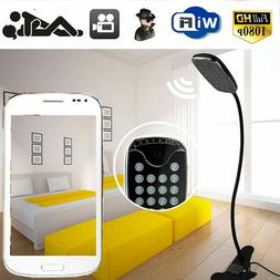 1080P WIFI Wireless Desk Clamp LED Table Lamp Security Camer