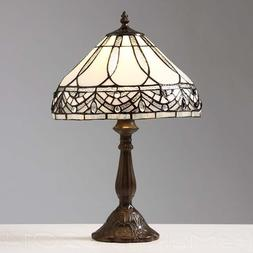 Warehouse of Tiffany 1150+MB06S GG Jewels Table Lamp, White