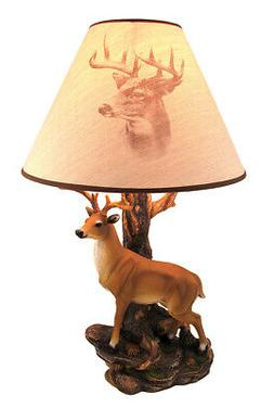 12 point buck table lamp