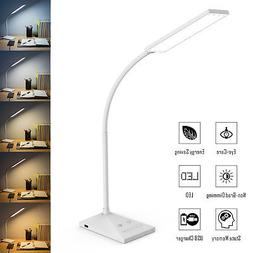 12W Touch Sensor Flexible Dimmable 7 LED Desk Table Lamp Rea