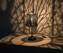 """KANSTAR 15"""" Bed Side Table Lamp Desk Lamp With Lamp Shade"""