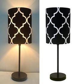 "16"" H Mini Living Room Indoor Table Lamp Metal Base"