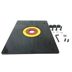 Big Horn 18101 9-Inch x 12-Inch Router Table Insert Plate wi