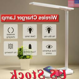 2 in 1 USB Charge LED Desk Lamp Table Fast  QI Wireless Phon