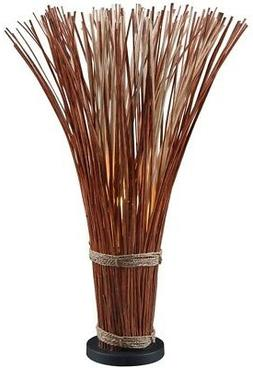 Kenroy Home 21065NR Sheaf Natural Reed Floor Lamp 46 Inch He