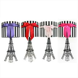 "24.5"" The Eiffel Tower Table Lamp with Bowknot Shade, Table"