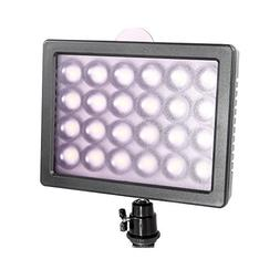 Andoer 24 LED Video Light Lamp 20W 2300LM Dimmable for Canon