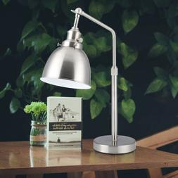 24''Silver Table Lamp Industrial Modern Task Lamp Reading Ad