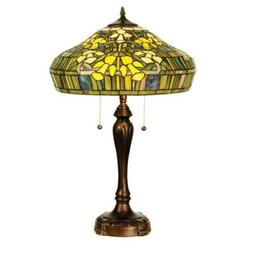 "Meyda Lighting 25""H Tiffany Jonquil Table Lamp, Ebia Iar Car"