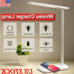 2in1 USB Charge LED Desk Lamp Table+Fast QI Wireless Phone C