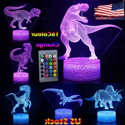 3D Illusion LED Night Light 16 Colour Touch Table Desk Mood