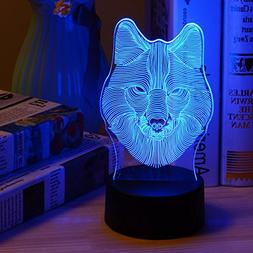3D Lamp Table Night Light - Wpky 3D Illusion Lamp 7 Color Ch
