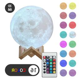 3D Moon Night Light Table Lamp USB Charging Touch Control Ho