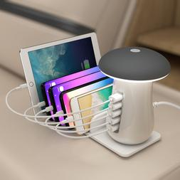 4 Ports USB Wall Charger Station with bedside <font><b>Night