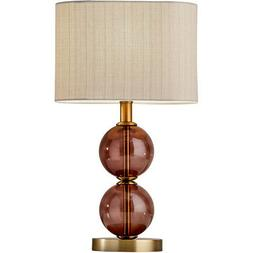 Adesso 4147-21 Donna Table Lamp Antique Brass and Burgundy R