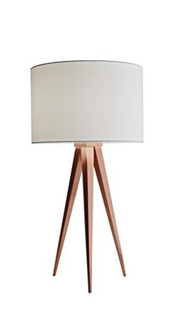 "Adesso 6423-20 Director 26.25"" Table Lamp, Brushed Copper"