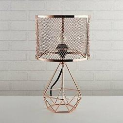 Urban Shop 784857777130 Perforated Geo Table Lamp Rose Gold