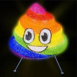 "8.5"" Rainbow Poop Emoji Lamp Girls Bedroom Light kids Home E"