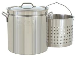 Bayou Classic 1124 24-Quart All Purpose Stainless Steel Stoc