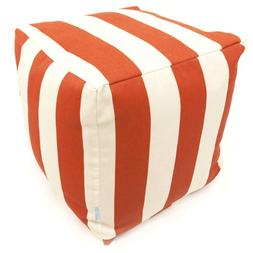 Majestic Home Goods Burnt Orange Vertical Strip Cube, Small