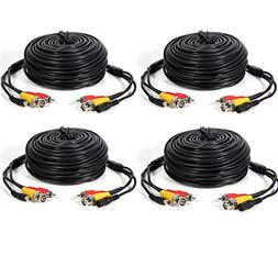 Masione 4 PACK 50ft security camera video audio power cable