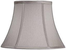 Pewter Gray Bell Lamp Shade 7x12x9