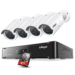 SANNCE New 1080P 2-Megapixel  POE Video Security System and