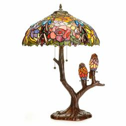 Tiffany-style Warehouse of Tiffany Sarah Camille Table Lamp