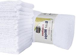Utopia Towels Kitchen Bar Mop 12 Pack  Pure Cotton White Kit