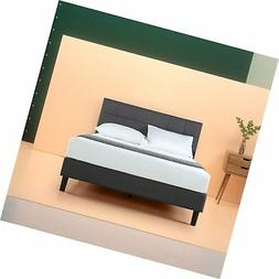 Zinus Lottie Upholstered Square Stitched Platform Bed with W