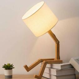 adjustable creative table lamp with white fabric