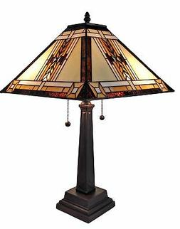 Amora Lighting AM099TL14 Tiffany Style Mission Design Table