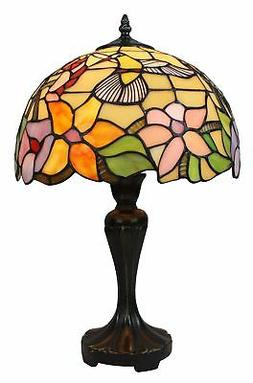 Amora Lighting AM1112TL12 Tiffany Style Hummingbird Table La