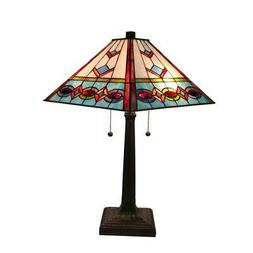 Amora Lighting AM310TL14 Tiffany Style Multi-Color Mission T