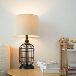 Table Lamps,Metal Base and Pull Chain for Nightstand, Bedroo