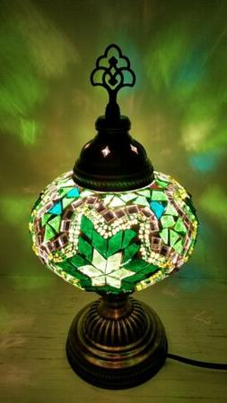 Authentic Turkish Moroccan Glass Mosaic Table Lamp Tiffany S