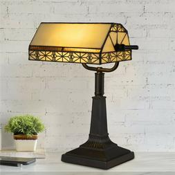 Bankers Lamp Tiffany Table Desk Lamp Stained Glass Vintage L