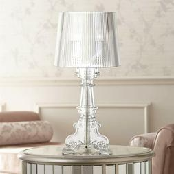 baroque accent table lamp clear acrylic see