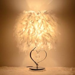 Bedside Reading Room Sitting Room Heart Shape Feather Crysta