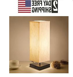 Bedside Table Lamp, Aooshine Minimalist Solid Wood Table Lam