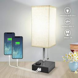Bedside Table Lamp, Nightstand Lamp for Bedroom with Dayligh