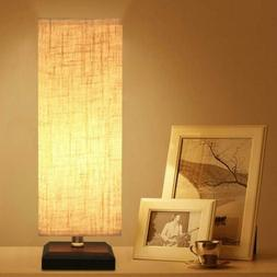 ZEEFO Bedside Table Lamp, Retro Style Solid Wood Lamps with