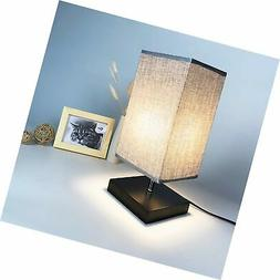 Wsky Bedside Table Lamp, Solid Wood Nightstand Lamp Minimali
