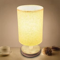 Anferstore Bedside Table Lamp,Retro Style Wood Table Lamp Be