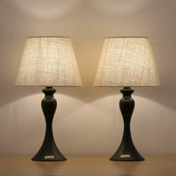 HAITRAL Bedside Table Lamps -Nightstand Lamps Set of 2 with