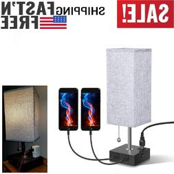 LED Bedside Table lamp & Desk Lamp – Modern Lamp with 2 US