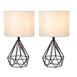 SOTTAE Black Hollowed Out Base Modern Lamp Bedroom Livingroo