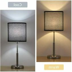 Black  Modern Table Lamp Nightstand Desk Lamp Beside Lamp Be