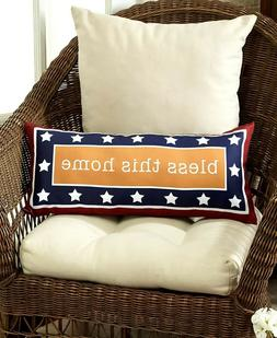 Bless this Home Accent Pillow Americana Stars Home Decor - 1