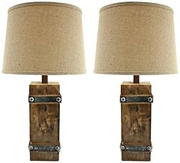 Aspire Brockton II Table Lamp , Brown